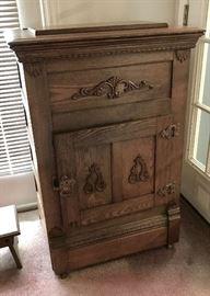 Antique Small Oak Ice Box