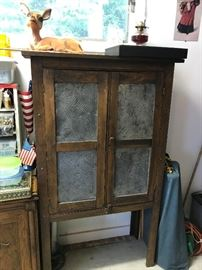 Antique Primitive Pie Cabinet