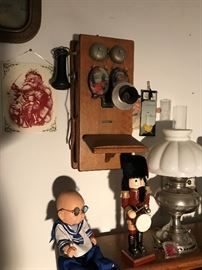 Doll , Lamp , Antique Telephone