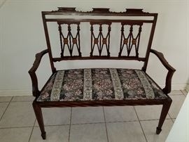 Antique Biedermeier Settee, exquisite form, meticulous inlay