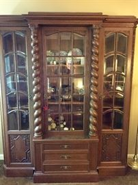 Vintage Barley Twist china display cabinet from Germany