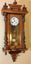 Vintage German wall clock restored