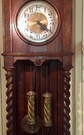 Vintage German grandfather clock