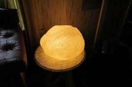 Singleton moon rock lamp