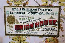 Original union house sign