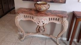 Beautiful marble top side table