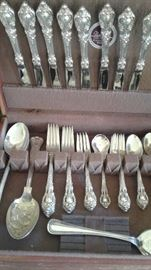 Sterling Flatware, Elequance by Lundt.  Service for 8 plus serving pieces
