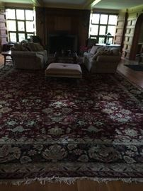 Huge oriental rug in living room
