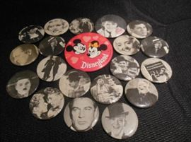 12.	Vintage Hollywood Stars Personality Pins