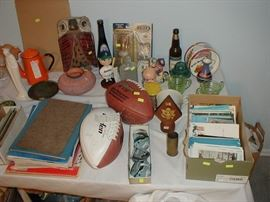 Baseball and football collectibles and magazines