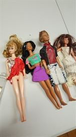 I have like 25 Barbie I just took a picture of a few