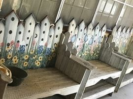 3 Hand painted benches