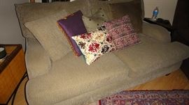 Sofa, one section of a 3 piece sectional sofa, matching sides and center corner pieces.