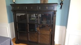 Display Cabinet w/ 3 top drawers and 3 sliding doors