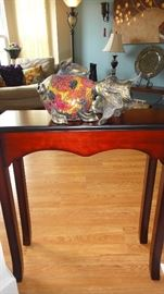 Hall table , fish decor