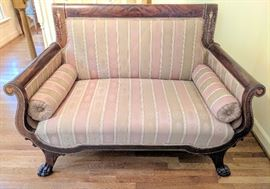 French Empire Settee w/Inlay