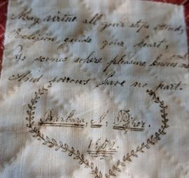 Signature Quilt is dated 1852.