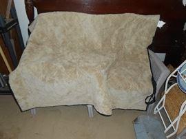Dog blanket inside