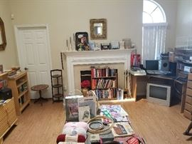 Lots of Books and Craft Items. Picture frames and DvDs.