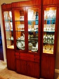 Hickory Lighted Display Cabinet