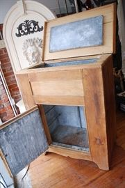 Early Antique Pine Ice Box