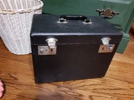 Sewing machine box for Singer with attachments