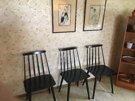 Farstrup wood chairs