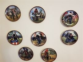 Civil War collector plates