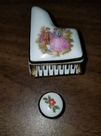 Limoges Minature Piano and Seat