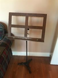 #3	Antique Music Stand Wood/Iron Base	 $75.00
