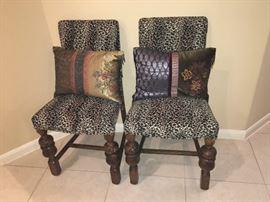 Cute Leopard Chairs!