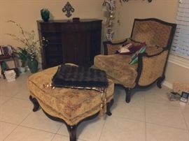 Lovely Chair and Ottoman