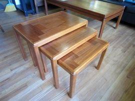 Vejle Stole-og Mobelfabrik A/S  teak nesting tables