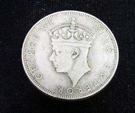 1939 Silver Seychelles One Rupee Coin.500 Silver Coin