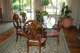 Formal Dining Set and planter are only items available for Saturday purchase