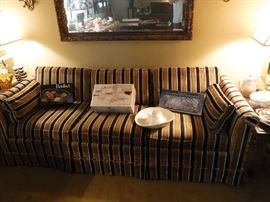 What a couch  right out of the late 1960's original upholstery, almost flawless. Made by ROWE see label next pic