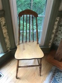 #3chairodd dining Chair w/arch back and spindles $30.00