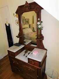 Several wonderful antique furnishings throughout the home.