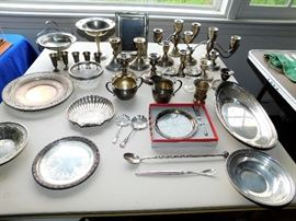 Many Sterling Silver, Weighted, & Plate Pieces