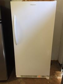 Upright Frigidaire freezer, excellent condition
