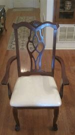 One of two host dining chairs