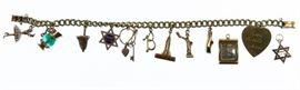 14k Gold Charm Barcelet