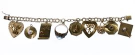 14k and 10k Gold Charm Bracelet