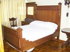 One of two antique bedroom sets...
