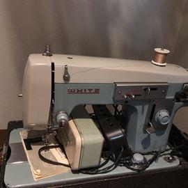 "Vintage ""white"" sewing machine"