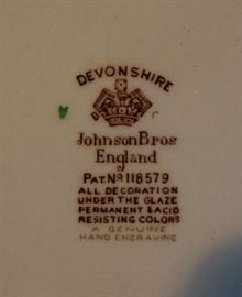 Johnson Brother Devonshire pottery