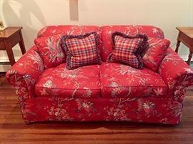 Down stuffed love seat
