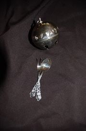 Reed & Baron 72' Sterling Christmas Bell, Sterling Serving Pieces