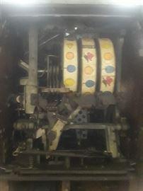 Inside of slot machine