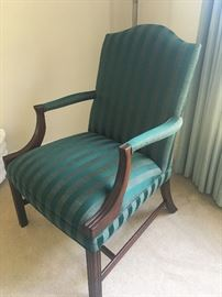 Upholstered straight chair